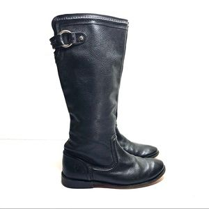 Frye black leather riding boots size 7